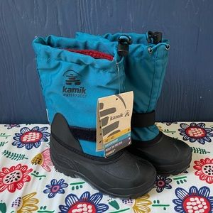 KAMIK Kids size 13 Blue waterproof snow boots